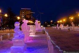 Фестиваль ледяной скульптуры в Магадане