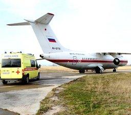 Спецборт МЧС России осуществляет санитарно-авиационную эвакуацию тяжелобольных детей из Севастополя в Москву
