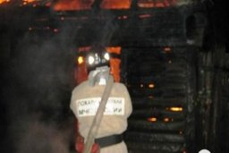 Пожарные тушили частную баню в садовом обществе «Дубок» в Хабаровском районе