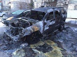 На Сигнальной улице вспыхнул припаркованный автомобиль
