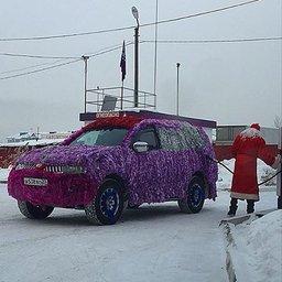 Новогоднее настроение на дорогах Хабаровска