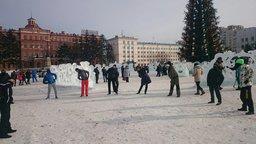 В Хабаровске утром 1 января прошла Русская пробежка