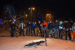 Хабаровчане, отметившие Новый год на велосипедах