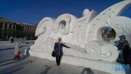 В Хабаровске творения ледовых и снежных скульпторов вновь страдают от рук горожан