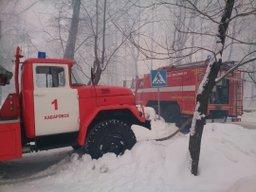 Пожарные расчеты привлекались к тушению частной бани в Хабаровске