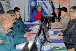 Глава МЧС России совершает облет регионов ЦФО, затронутых циклоном