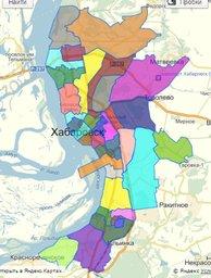 Карта избирательных округов Хабаровска