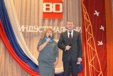 Юрий Минаев и Елена Ларионова поздравили Индустриальный район