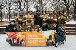 Столичные огнеборцы приняли участие в ледовом флешмобе в парке им. М. Горького