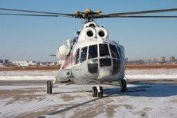 Пациент доставлен на борт вертолета Ми-8 МЧС России