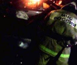 Огнеборцы ликвидировали загорание легкового автомобиля в Комсомольске