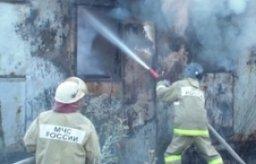 Менее 40 минут потребовалось пожарным для ликвидации пожара в металлическом вагончике по улице Дзержинского в Комсомольске