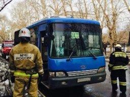 Десять минут потребовалось огнеборцам для ликвидации возгорания в автобусе в Комсомольске