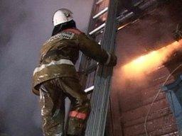 Комсомольские пожарные тушили деревянный дом на Хуминнском шоссе