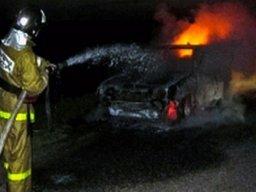 Хабаровские пожарные ликвидировали загорание легкового автомобиля