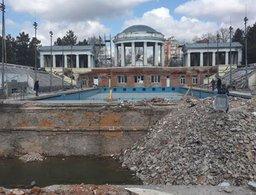 Ход реконструкции бассейна на стадионе им