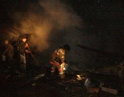 Пожарные тушили надворные постройки в поселке Некрасовка Хабаровского муниципального района