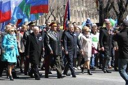 Депутаты и сотрудники краевого парламента приняли участие в первомайском шествии