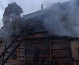 В Амурске пожарные тушили частную баню