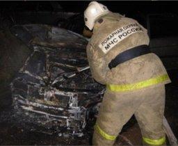 Ночью хабаровские пожарные выезжали на тушение легкового автомобиля
