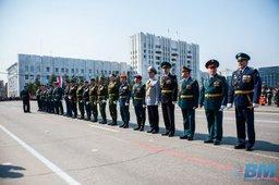 По хабаровской площади Ленина впервые промаршировала нацгвардия