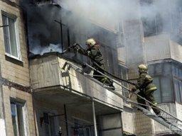 Менее получаса потребовалось комсомольским огнеборцам для ликвидации пожара на балконе жилого дома по улице Пермской
