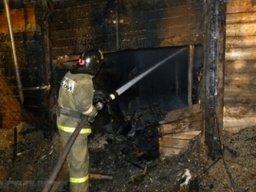 Пожарные ликвидировали загорание дачного дома в садовом обществе «Ветеран-1» в Комсомольском районе