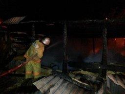 Дачный дом в обществе «Тепловик» в Хабаровском районе тушили сотрудники пожарной охраны