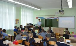 Госавтоинспекторы Комсомольского района провели в школах День профилактики