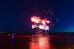 Грандиозный фейерверк увидели жители и гости Хабаровска в День города