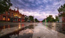 Утренняя промывка улиц
