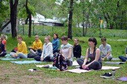 Бесплатные занятия йогой на свежем воздухе начались в Хабаровске