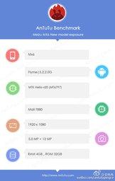Характеристики Meizu MX6 показаны в AnTuTu