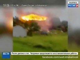 Молния попала в дом в селе Казакевичево