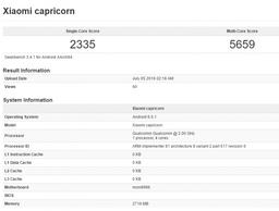 Xiaomi Capricorn на Snapdragon 820 и 3 ГБ RAM замечен в бенчмарке