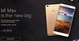Xiaomi Mi Max – в Индии и снова дешевле, чем в Китае