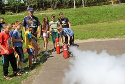 В детском оздоровительном лагере «Буревестник» города Комсомольска-на-Амуре прошел конкурс «На всякий пожарный случай»